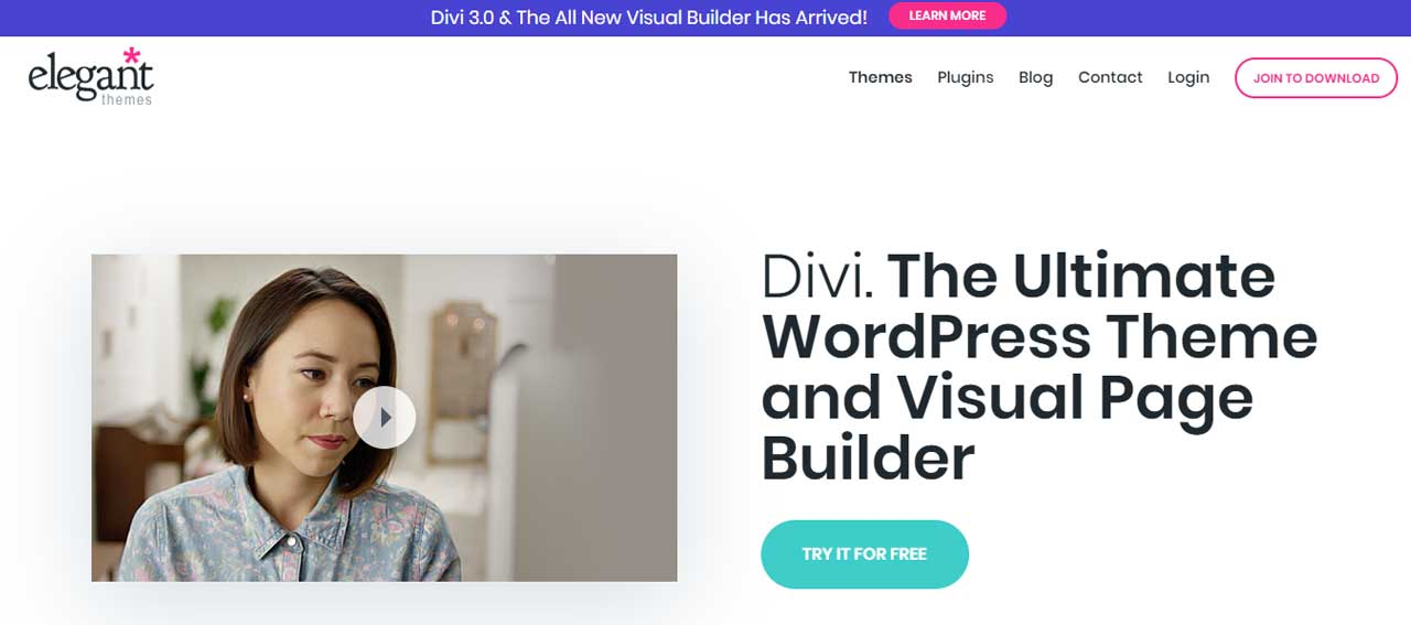 divi theme to start a blog